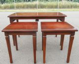 SOLD - Mahogany Cross-banded Top Nest of Three Coffee Tables